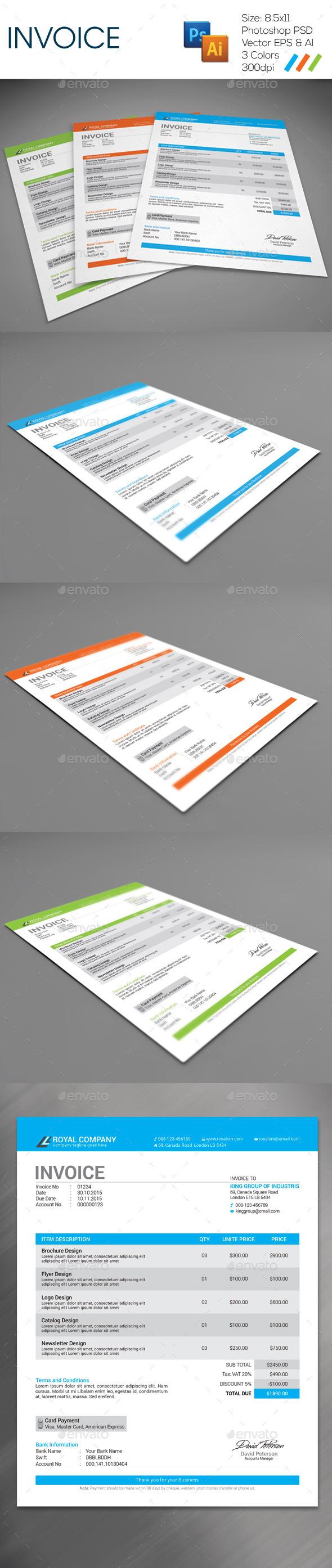 GraphicRiver Invoice 9328626
