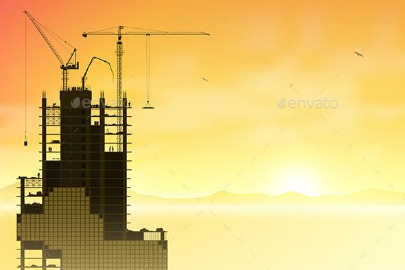 GraphicRiver Tower Cranes 9328636