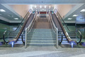 Empty escalator stairs in the airport - PhotoDune Item for Sale