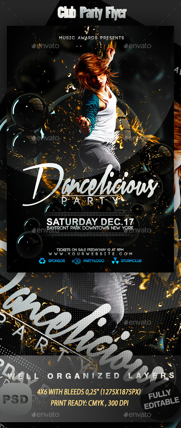 GraphicRiver Club Party Flyer 9328939