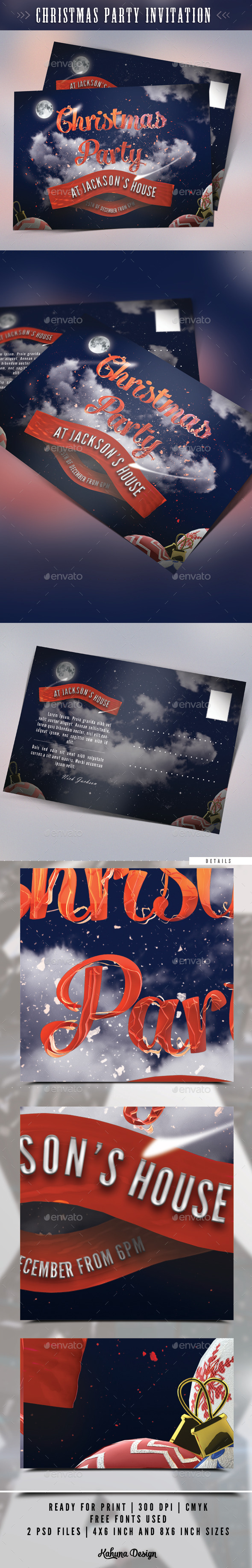 GraphicRiver Christmas Party Invitation 9329039