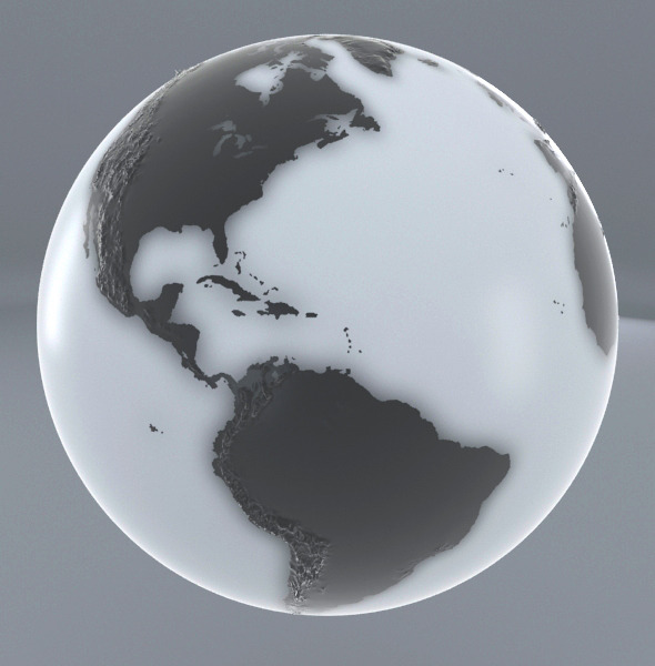 3DOcean Earth Black and white 9329073
