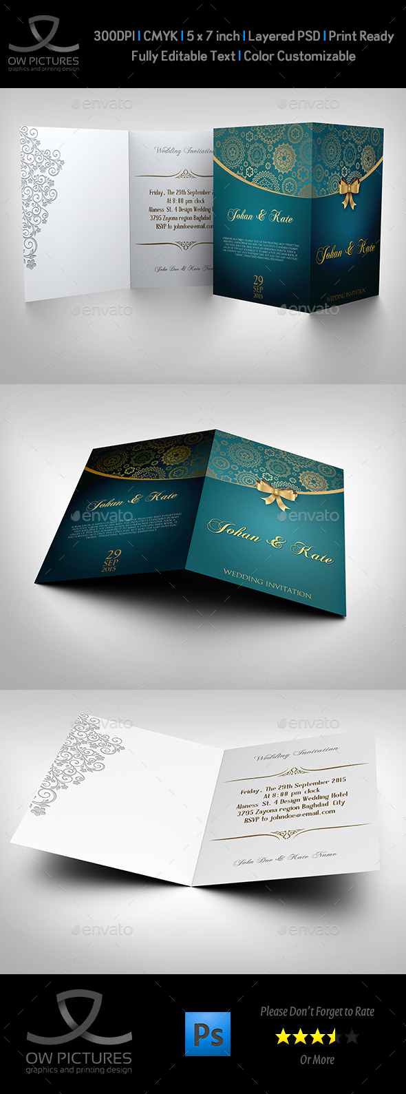 GraphicRiver Wedding Invitation Card Template Vol.8 9329129