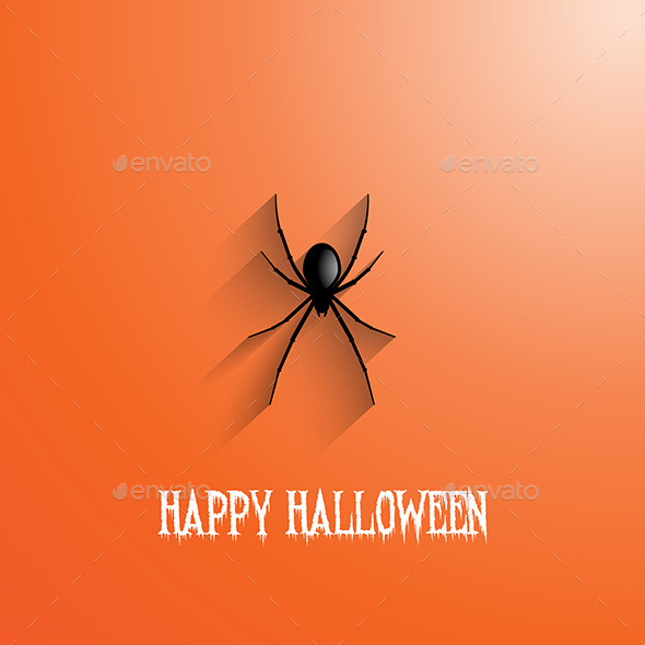 GraphicRiver Halloween Spider Background 9329177