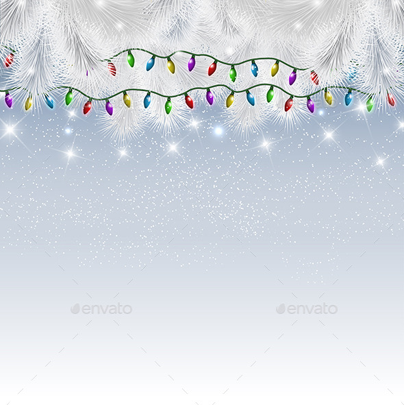 GraphicRiver Christmas Lights Background 9329189