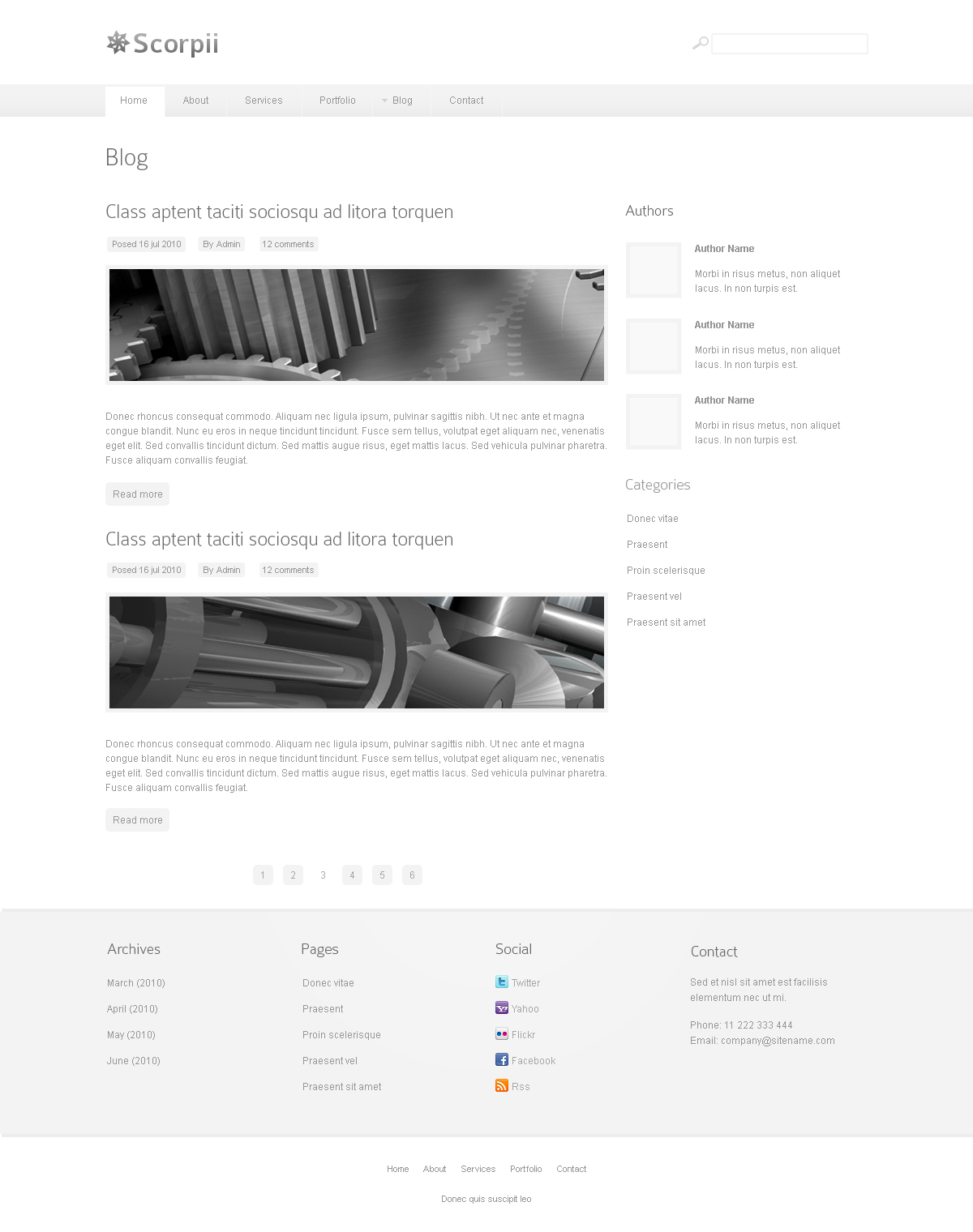 Scorpii - Corporate and Business Joomla Template