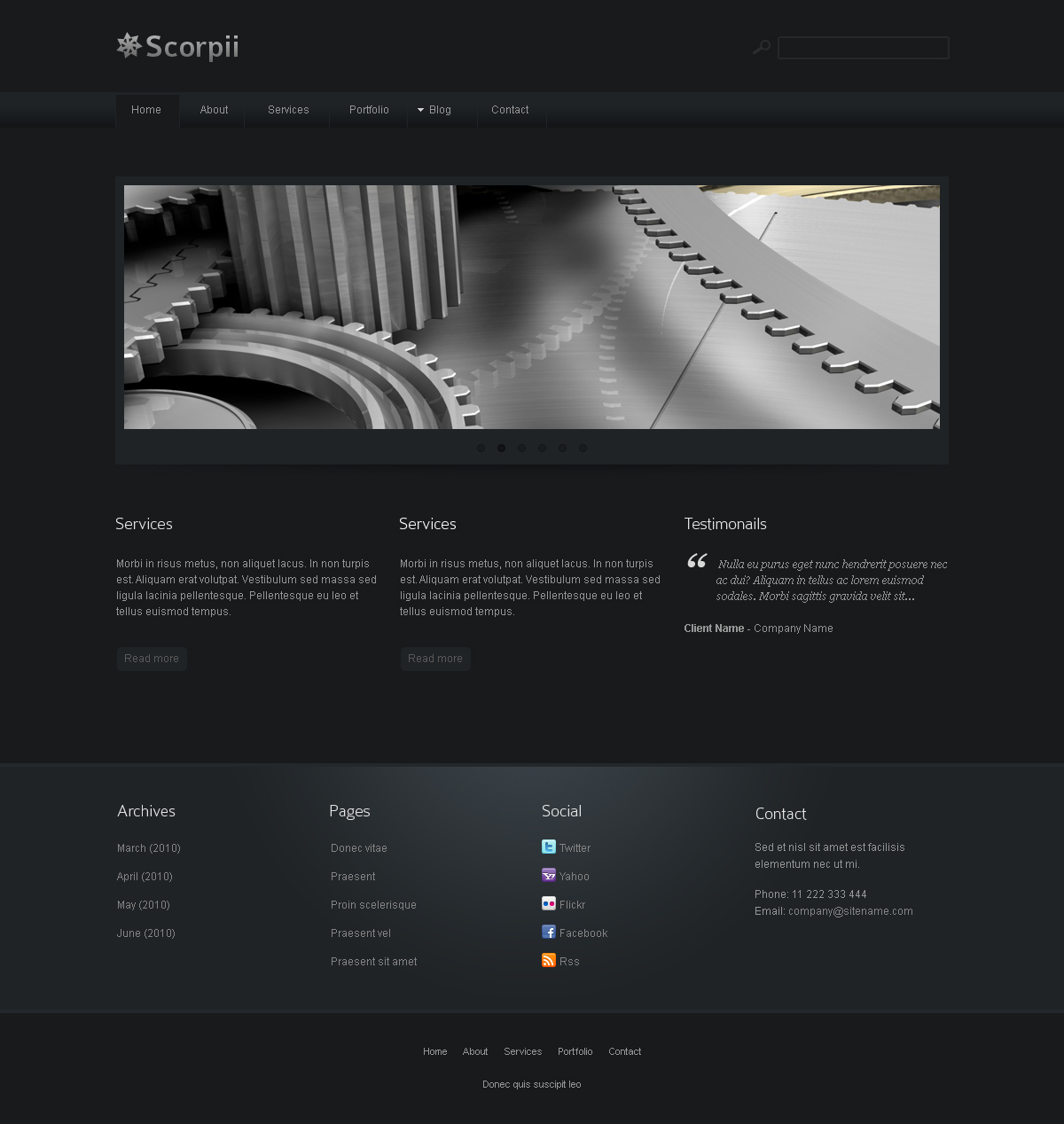 Scorpii - Corporate and Business Joomla Template