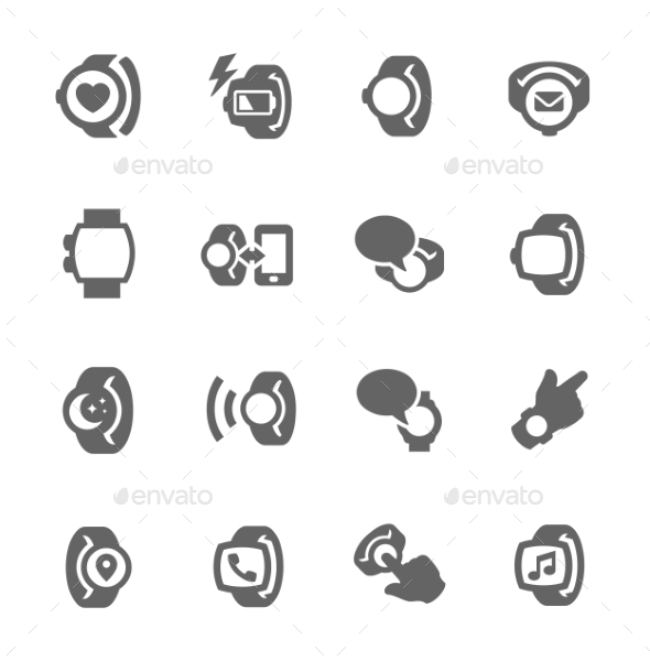 GraphicRiver Smart Watch Icons 9329257