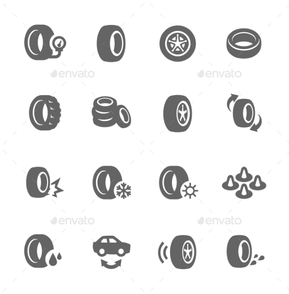 GraphicRiver Tire Icons 9329260