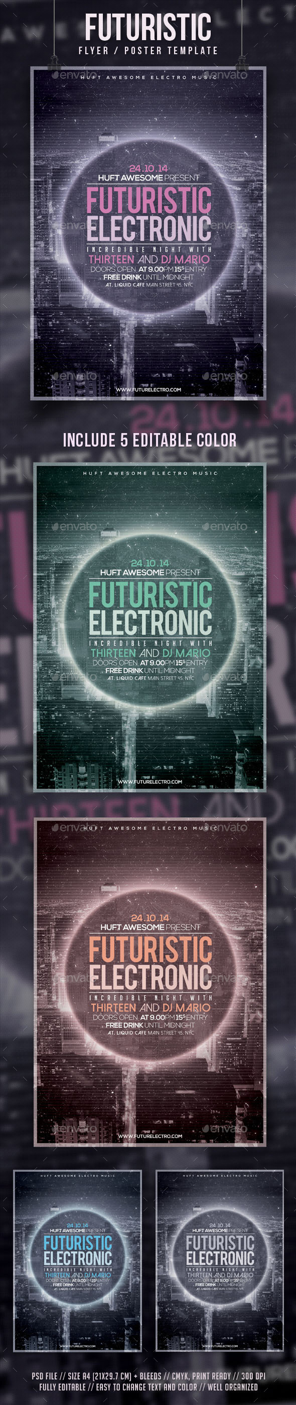 GraphicRiver Futuristic Flyer Template 9329303