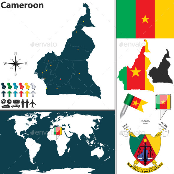 GraphicRiver Map of Cameroon 9329341