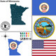 Map of State Minnesota, USA - GraphicRiver Item for Sale