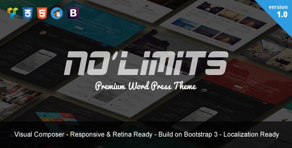 ThemeForest NoLimits One Page Bootstrap Responsive WordPress 9213605