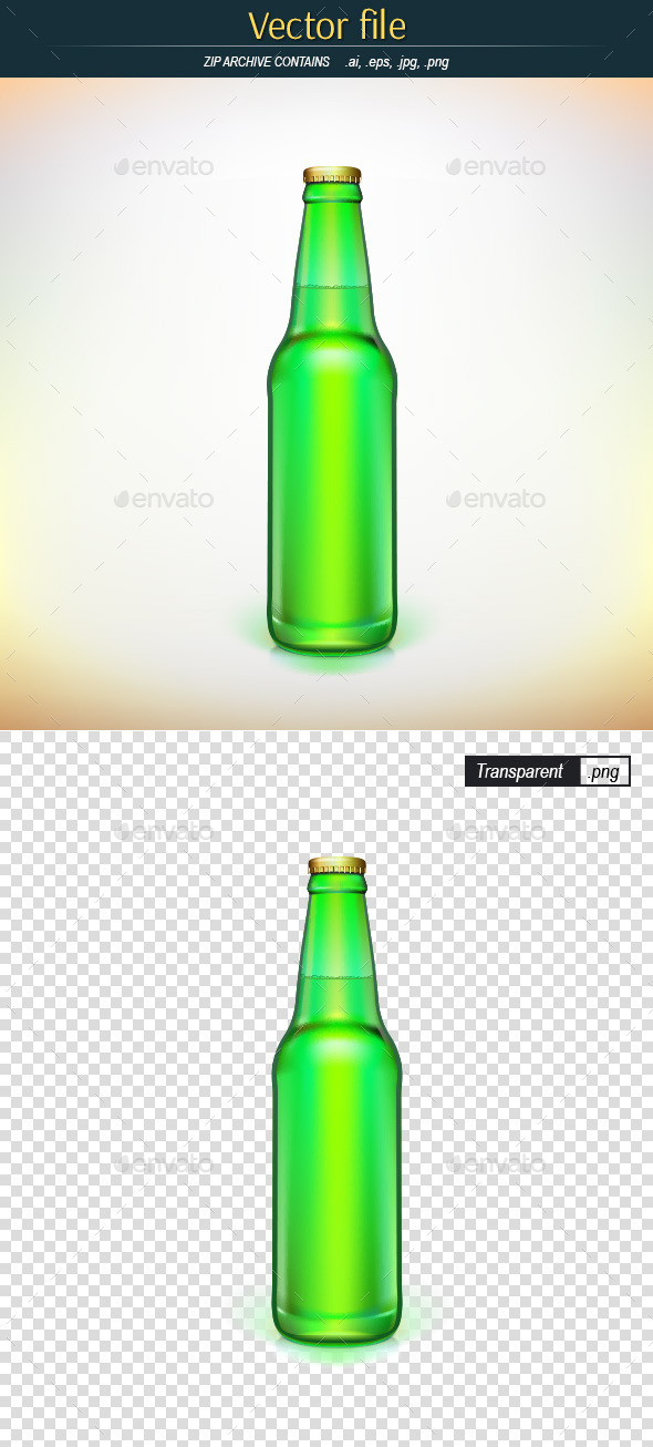 GraphicRiver Bottle of Beer 9329496
