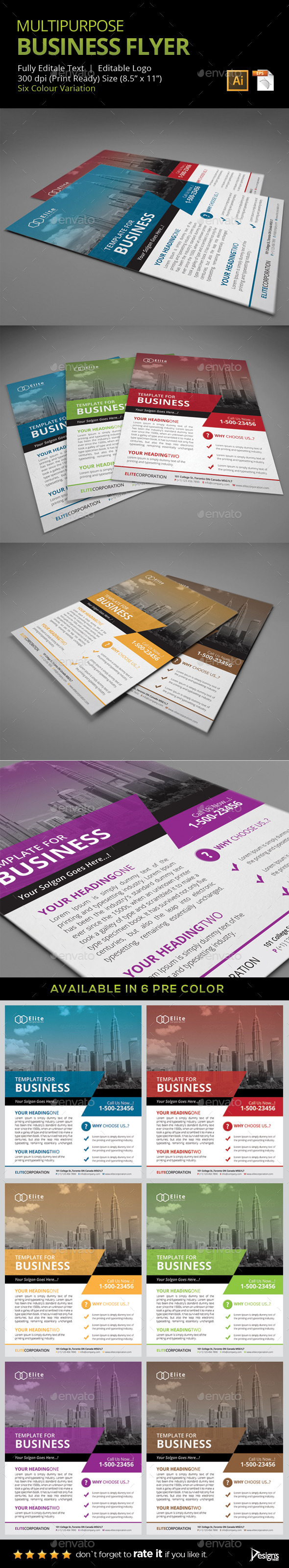 GraphicRiver Flyer Multipurpose Business Flyer 8 9329573
