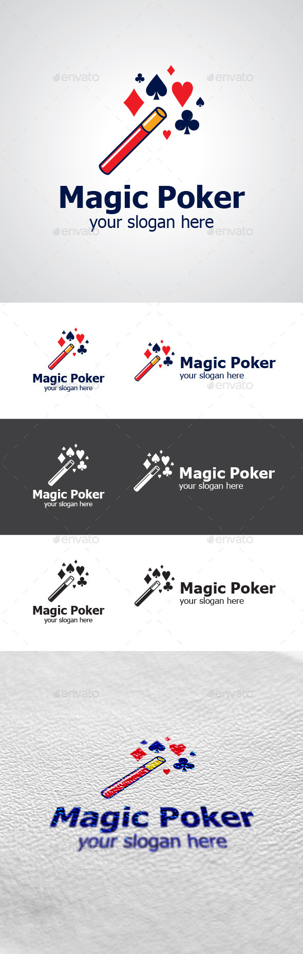GraphicRiver Magic Poker Logo Design 9329619