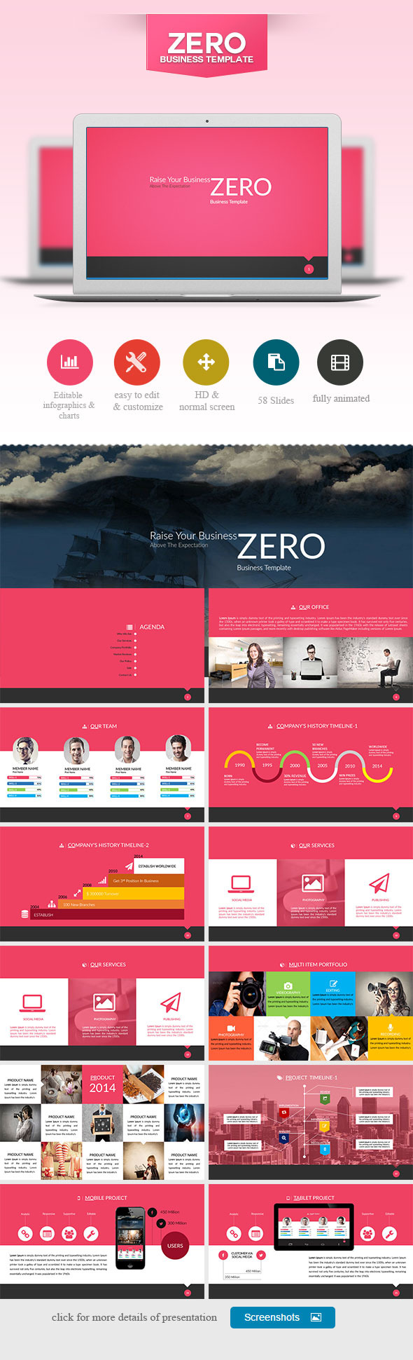 GraphicRiver ZERO Power Point Presentation 9330620
