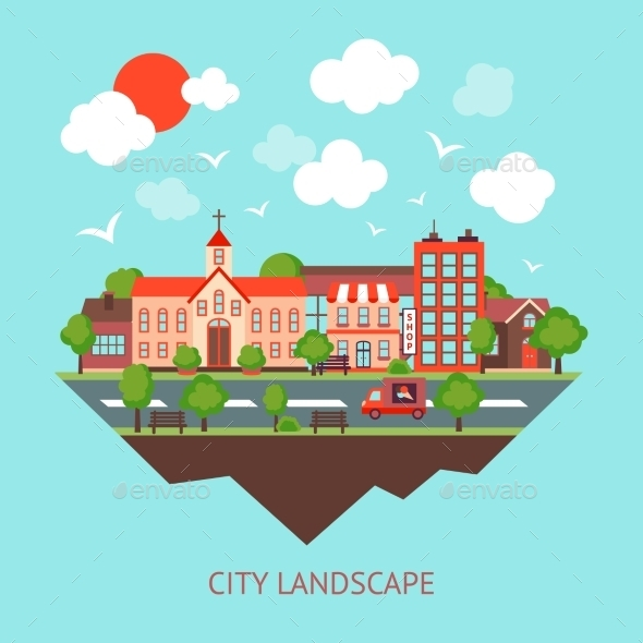 GraphicRiver Cityscape Background 9330638