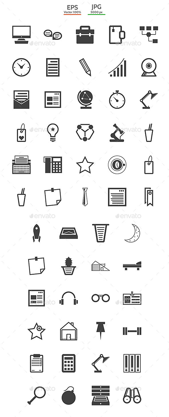 GraphicRiver Collection for Freelance and Business Icons 9330649