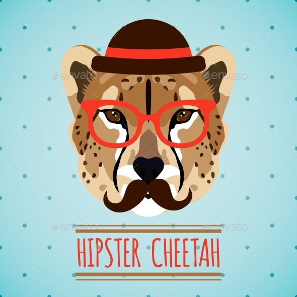 GraphicRiver Animal Hipster Portrait 9330704