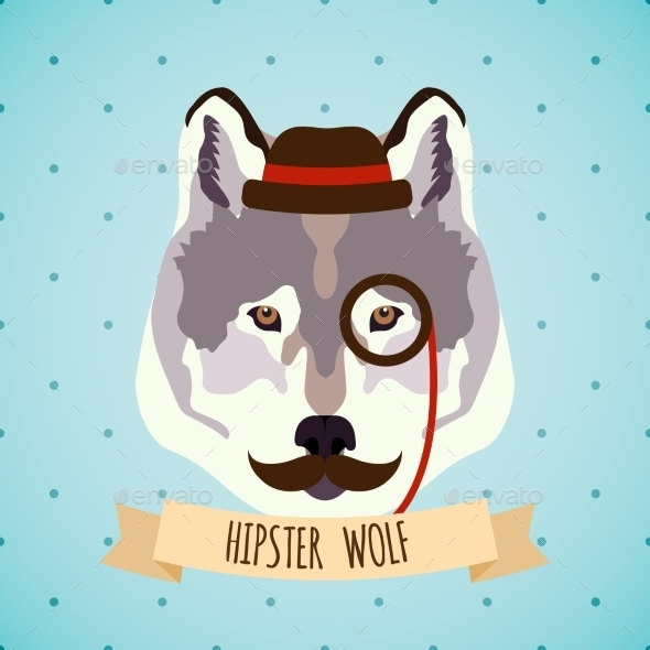 GraphicRiver Animal Hipster Portrait 9330716