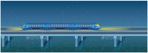 GraphicRiver Night Express Train 9330776