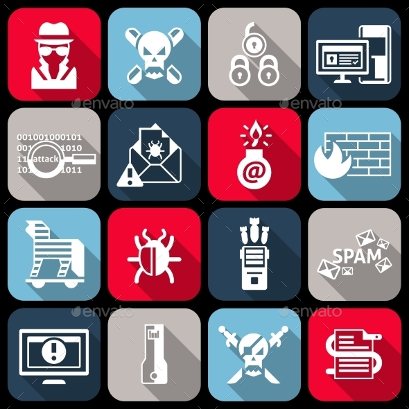 GraphicRiver Hacker Icons Set 9330849