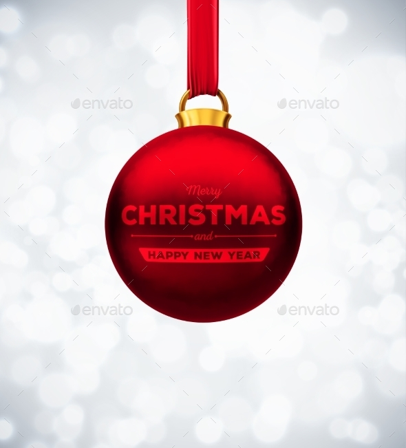 GraphicRiver Red Christmas Ball 9330854