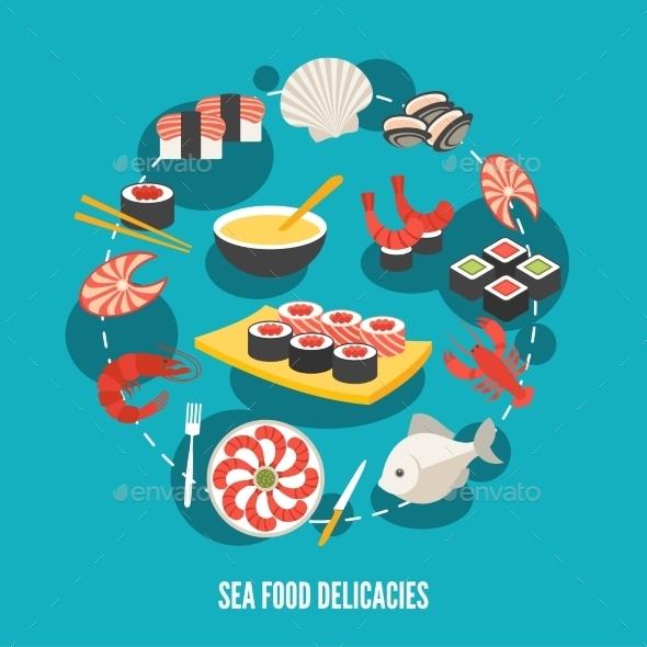GraphicRiver Seafood Delicacies 9330869