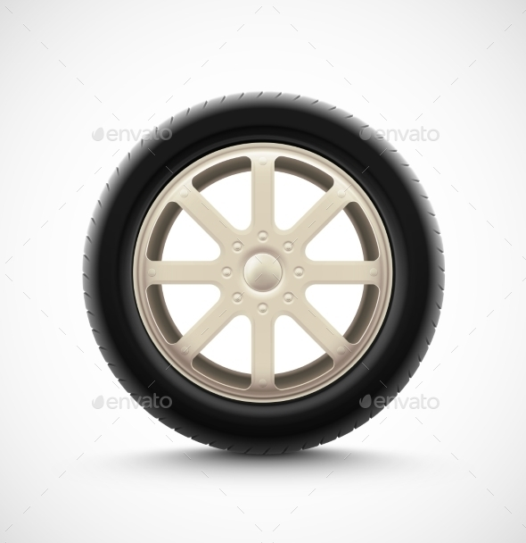 GraphicRiver Isolated Car Wheel 9330879