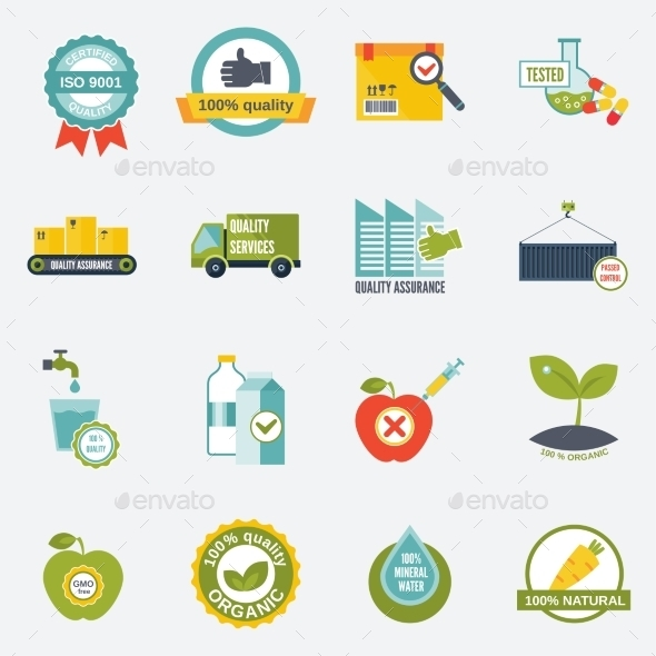 GraphicRiver Quality Control Icons 9330882