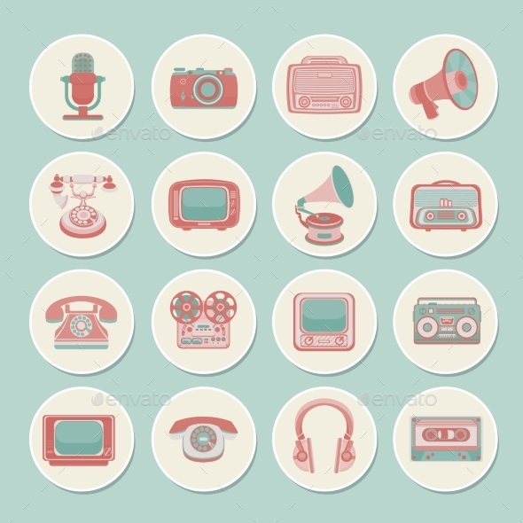 GraphicRiver Retro Media Icons 9330887