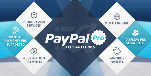 ARForms has new extension which accept payments Via PayPal Pro method. This Add-On enable users to make payments directly on your site without sending the user