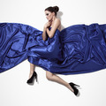 Young Beauty Woman In Blue Dress. - PhotoDune Item for Sale