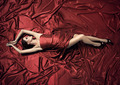 Young Beauty Woman In Red Dress. - PhotoDune Item for Sale