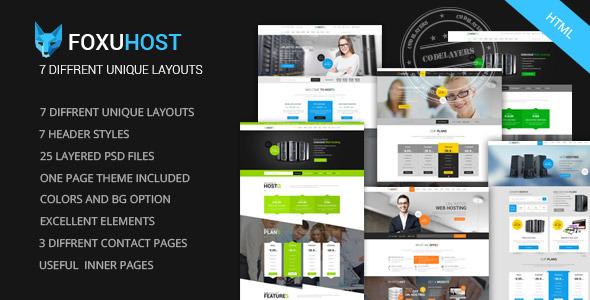 ThemeForest Foxuhost Web Hosting Responsive HTML5 Template 9289707