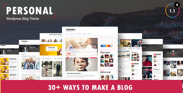 ThemeForest Personal Best Blog CV and Video WordPress Theme 9211924