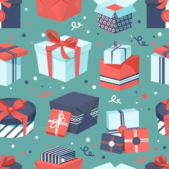 GraphicRiver Gift Box Icons Set 9331093