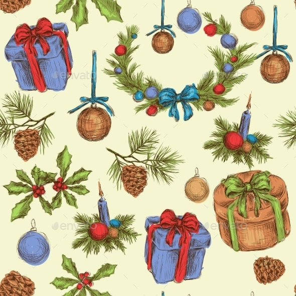 GraphicRiver Christmas Seamless Pattern 9331101