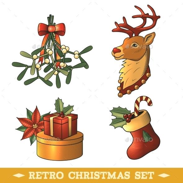 GraphicRiver Christmas Icons Colored Set 9331127