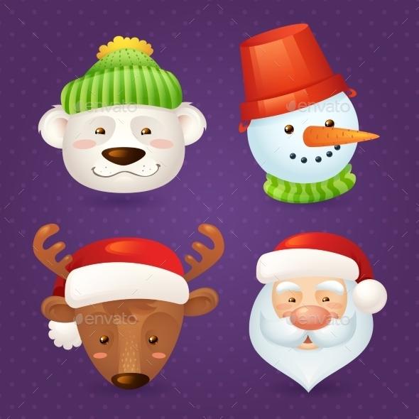 GraphicRiver Christmas Characters Set 9331138