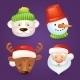 Christmas Characters Set - GraphicRiver Item for Sale