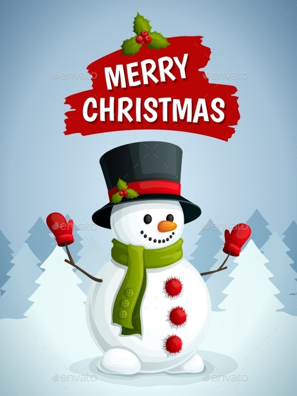 GraphicRiver Christmas Snowman 9331178