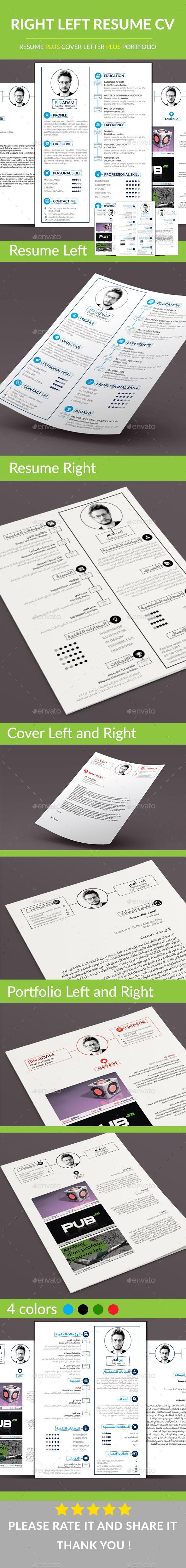 GraphicRiver Right Left CV Resume 9331183