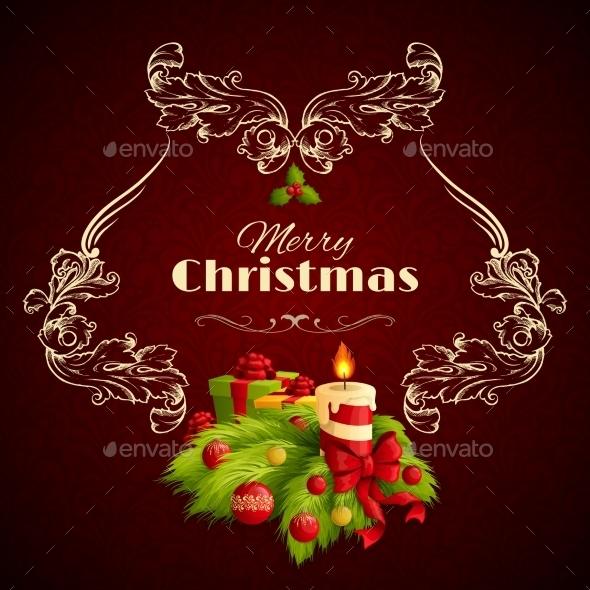 GraphicRiver Christmas Retro Background 9331187