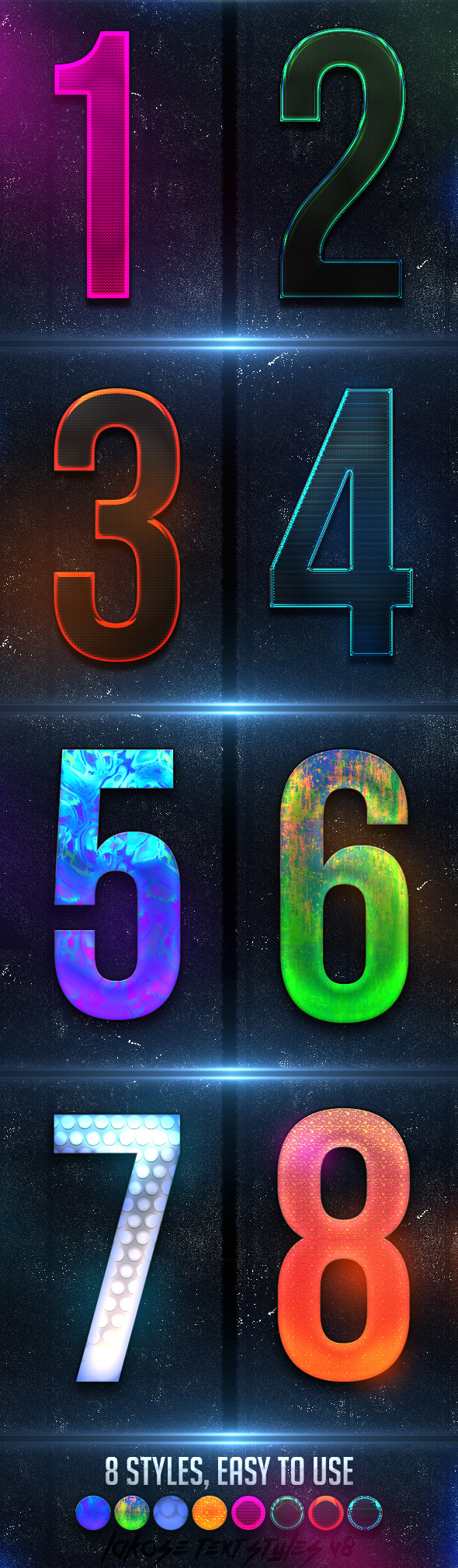 GraphicRiver Lakose Text Styles V8 9331289