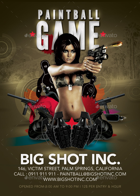 GraphicRiver Paintball Special Or Shooting Game Competition 9331384