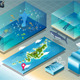 Isometric Tile of Carribean Diving Holidays - GraphicRiver Item for Sale