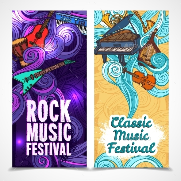 GraphicRiver Vertical Music Banners 9331864