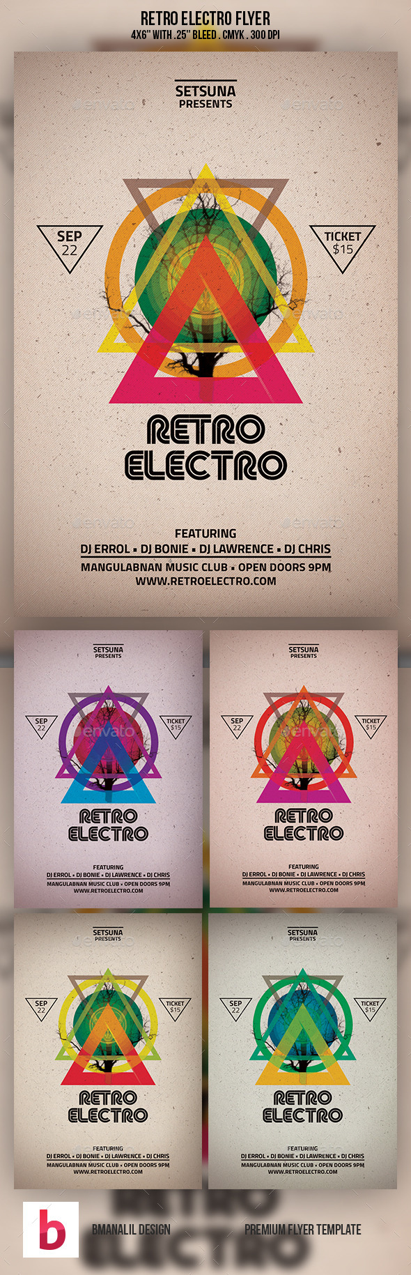 Retro Electro Flyer
